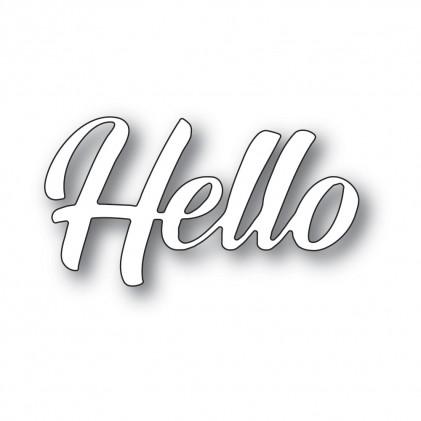 Memory Box Stanzschablone - Hello Banner Script