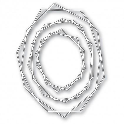 Memory Box Stanzschablone - Geodesic Oval Trio