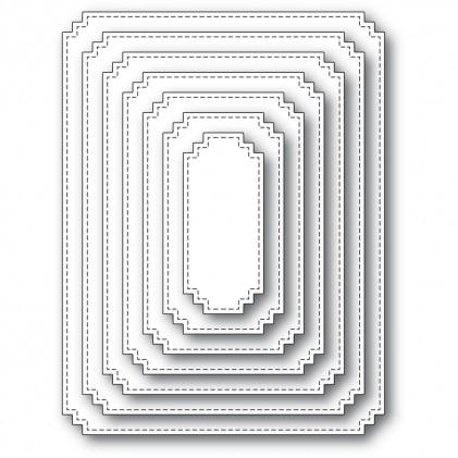 Memory Box Stanzschablone - Matinee Rectangle Layers