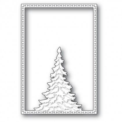 Memory Box Stanzschablone - Single Pine Tree Frame