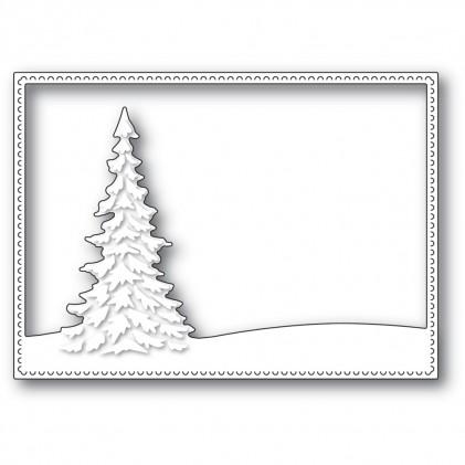 Memory Box Stanzschablone - Single Pine Landscape Frame