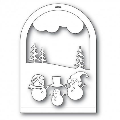 Memory Box Stanzschablone - Snowmen Snowglobe