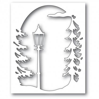Memory Box Stanzschablone - Lamplight Tree Collage