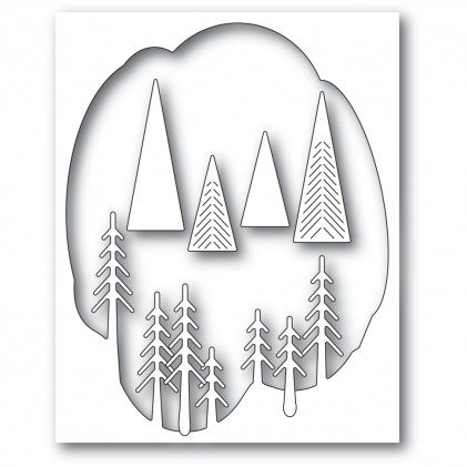 Memory Box Stanzschablone - Pine Tree Collage