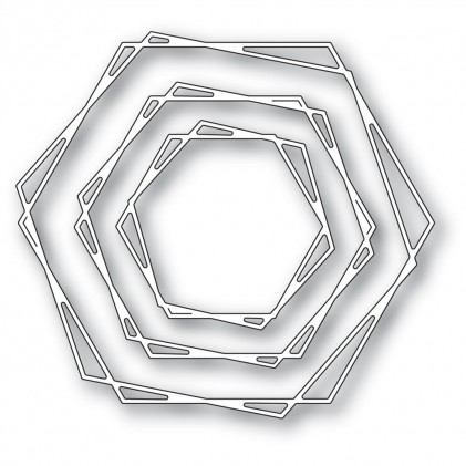 Memory Box Stanzschablone - Stylish Hexagon Trio