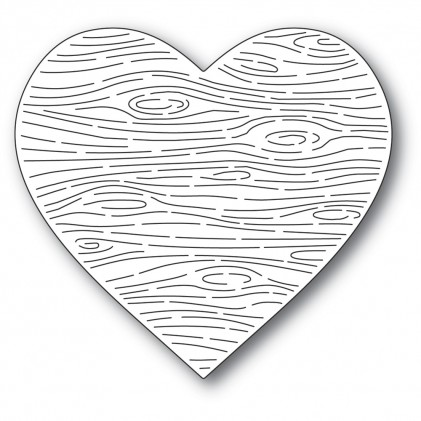 Memory Box Stanzschablone - Woodgrain Heart
