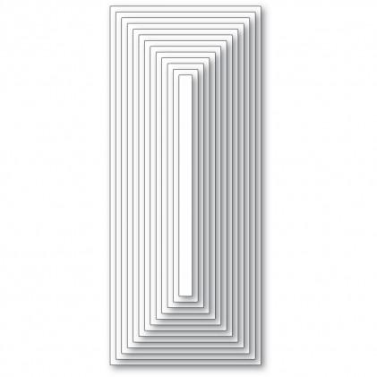 Memory Box Stanzschablone - Slim Basic Rectangle Layers