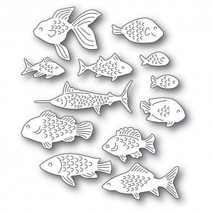 Memory Box Stanzschablone - School of Fish