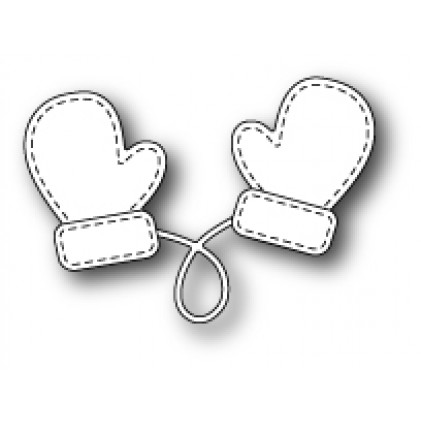 Memory Box Stanzschablone - Stitched Mittens