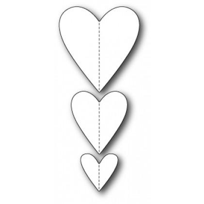 Memory Box Stanzschablone - Stitched Heart Trio