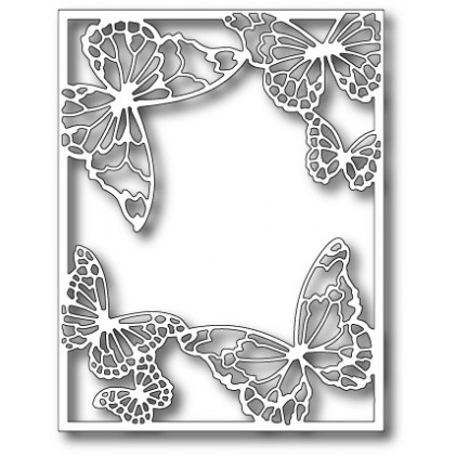 Memory Box Stanzschablone - Drifting Butterfly Frame