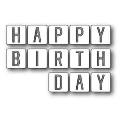 Memory Box Stanzschablone - Happy Birthday Tiles
