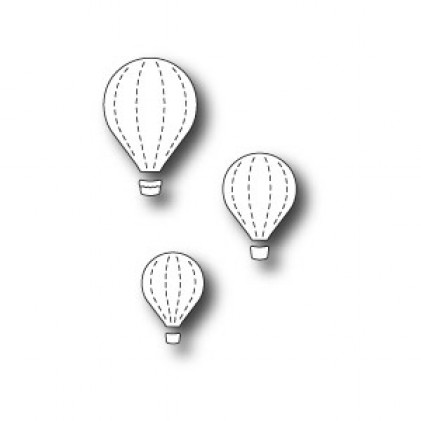 Memory Box Stanzschablone - Floating Balloon Trio