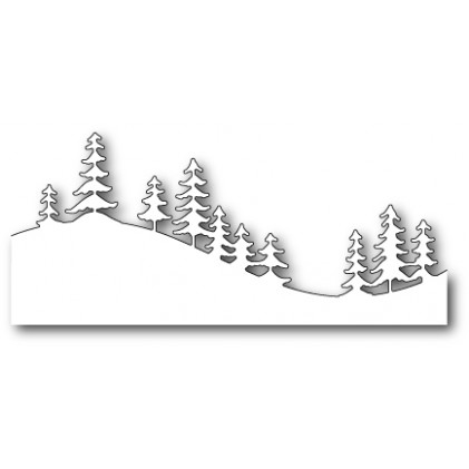 Memory Box Stanzschablone - Fresh Pine Curved Border