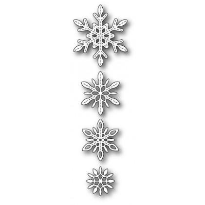 Memory Box Stanzschablone - Delicate Stitched Snowflakes