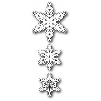 Memory Box Stanzschablone - Pinpoint Snowflakes