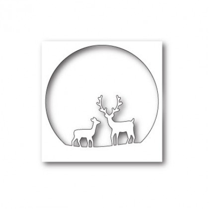 Memory Box Stanzschablone - Deer Family Circle