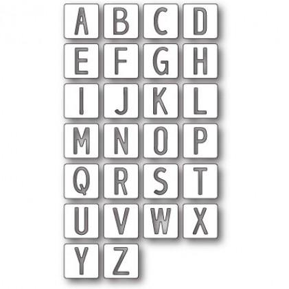 Memory Box Stanzschablone - Alphabet Tile Letters