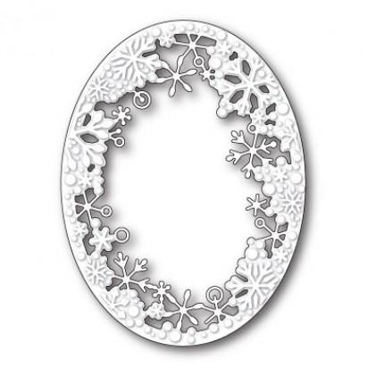 Memory Box Stanzschablone - Dancing Snowflake Oval