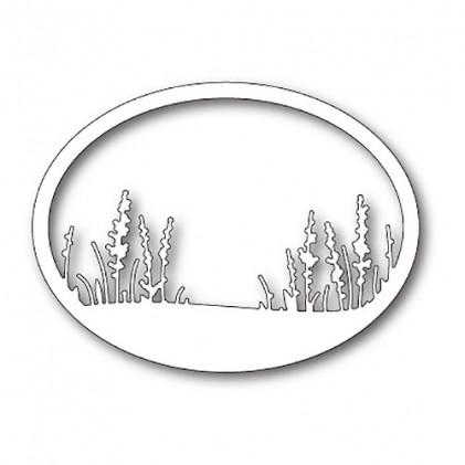 Memory Box Stanzschablone - Wildflower Oval Frame