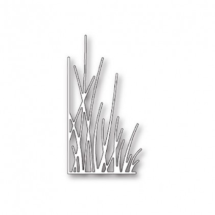 Memory Box Stanzschablone - Tall Grassy Stems Left Corner