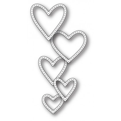 Memory Box Stanzschablone - Classic Stitched Heart Rings