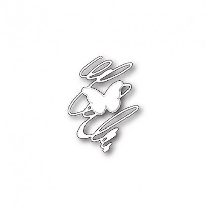 Memory Box Stanzschablone - Whirling Butterfly Silhouette