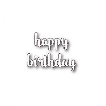Memory Box Stanzschablone - Happy Birthday Upright Script