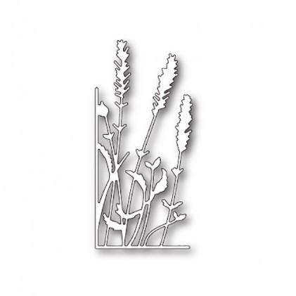 Memory Box Stanzschablone - Lavender Stems Left Corner