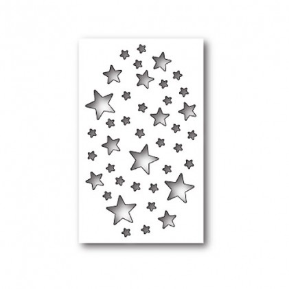 Memory Box Stanzschablone - Shimmer Star Collage