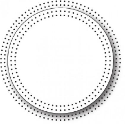 Memory Box Stanzschablone - Pinpoint Circle Frame