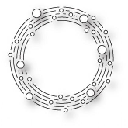 Memory Box Stanzschablone - Sheer Circle Wreath