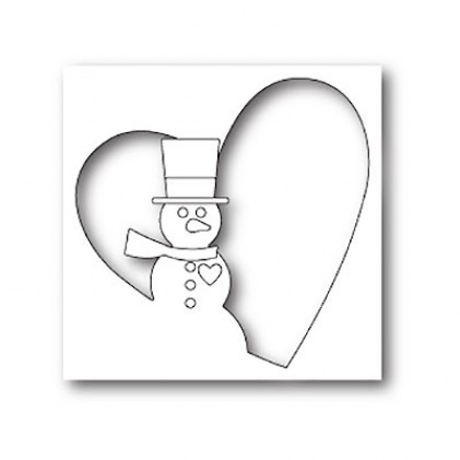 Memory Box Stanzschablone - Snowman Heart Collage