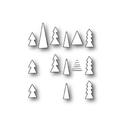 Memory Box Stanzschablone - Tiny Tree Triplet