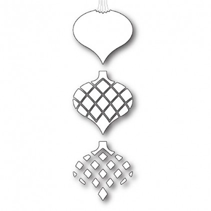 Memory Box Stanzschablone - Classic Ornament Triplet
