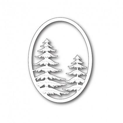 Memory Box Stanzschablone - Snowy Pine Oval