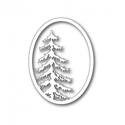 Memory Box Stanzschablone - Tall Pine Oval