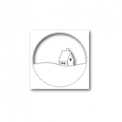 Memory Box Stanzschablone - Stitched Circle Cabin