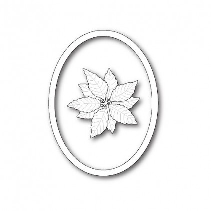 Memory Box Stanzschablone - Decorative Poinsettia Oval