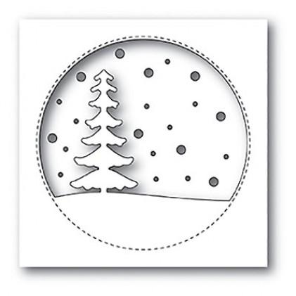 Memory Box Stanzschablone - Snowy Tree Circle - 25% RABATT