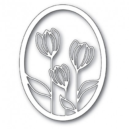 Memory Box Stanzschablone - Floral Bloom Oval Frame