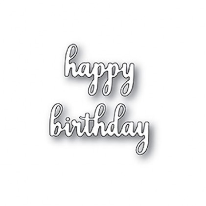 Memory Box Stanzschablone - Sentimental Happy Birthday