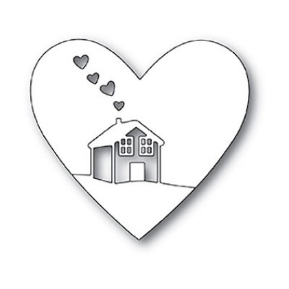 Memory Box Stanzschablone - Home is Where the Heart Is