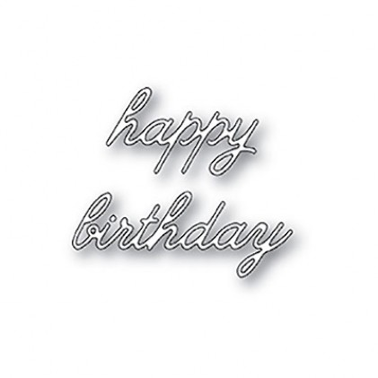 Memory Box Stanzschablone - Happy Birthday Cursive