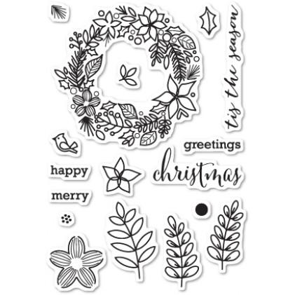 Memory Box Stempel-Set - Christmas Botanicals