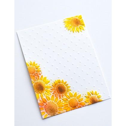 Memory Box 3D Prägeschablone - Floral Corner 3D Embossing Folder