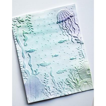 Memory Box 3D Prägeschablone - Underwater 3D Embossing Folder