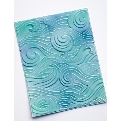 Memory Box 3D Prägeschablone - Waves 3D Embossing Folder