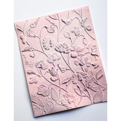 Memory Box 3D Prägeschablone - Blooming Sweet Pea 3D Embossing Folder