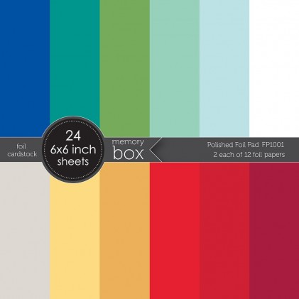 Memory Box Paper Pack 6 x 6 - Polished Foil Pad pack